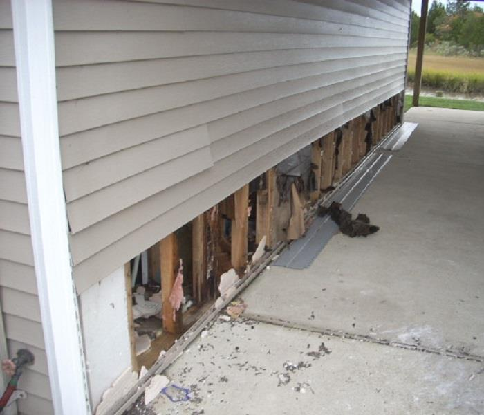 Storm Damage to Home's Exterior Before